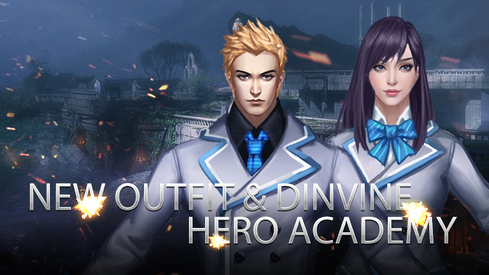 New Outfit & Divine Weapon Skin – Hero Academy