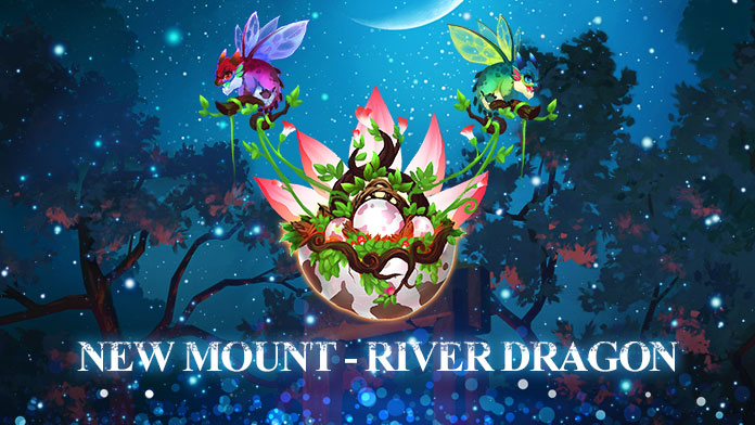 New Mount - River Dragon has arrived at Treasure Hunt