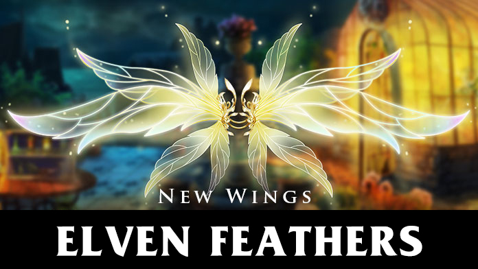 Get the gorgeous Wings - Elven Feathers at Lucky Tree