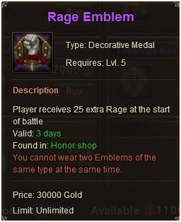 League of Angels Rage Emblem