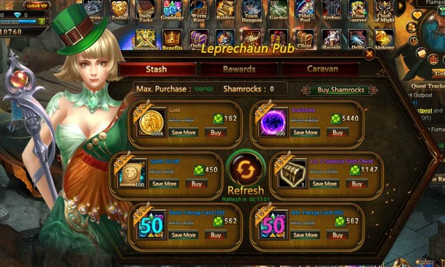 League of Angels Leprechaun Pub