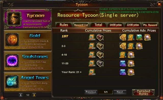 League of Angels Recource Tycoon