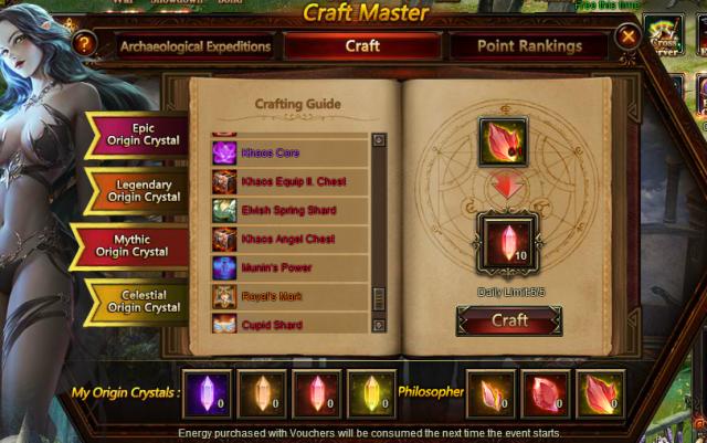 Materials Crafting Magic Items E