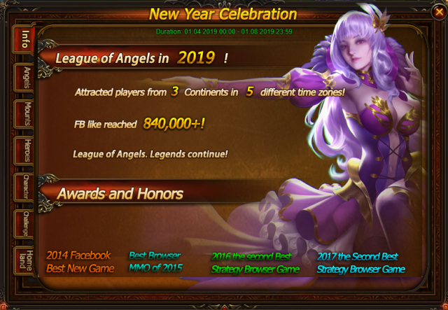 New-Year Celebration: Great Event Specially For You!-League