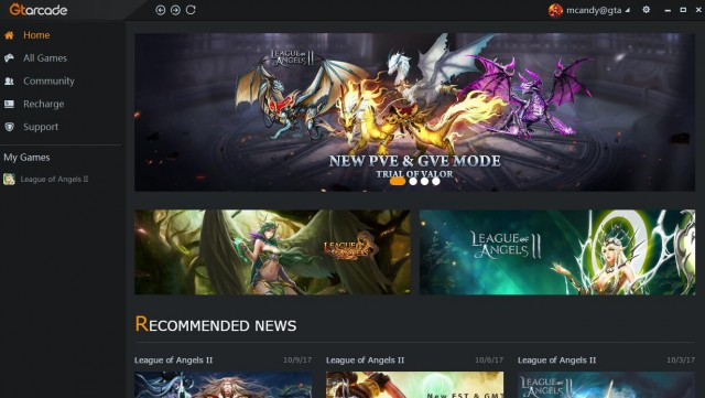 league of angels download client
