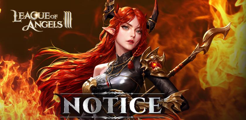 Announcement: League of Angels III Open Beta Postponed