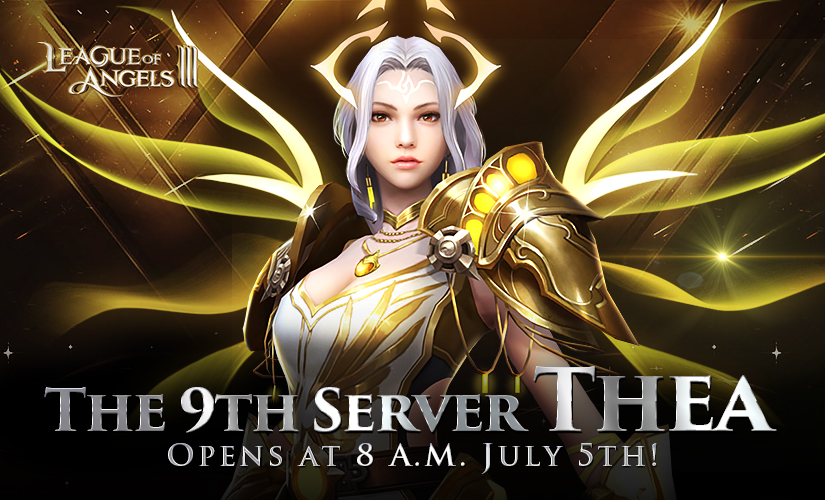 New Server for League of Angels III Launches at 8 A.M. July 5th!