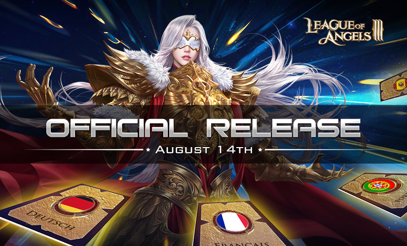 League of Angels III Official Multi-Language Release on August 14th!