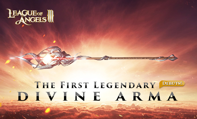 The First Legendary Divine Arma of League of Angels III Unveiled!