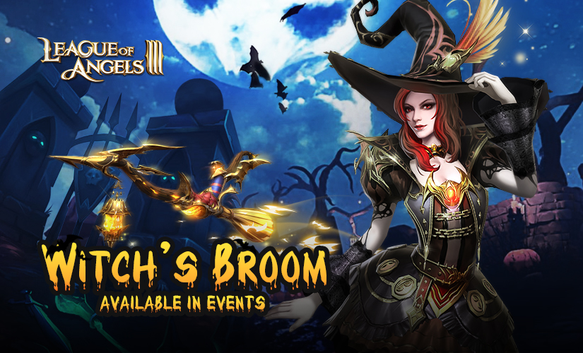 Put on Jack's Helmet and Fly around in Witch's Broom!
