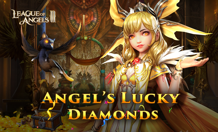 Get fortune in Angel's Lucky Diamonds