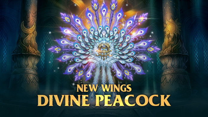 Get the gorgeous Wings – Divine Peacock at Lucky Tree