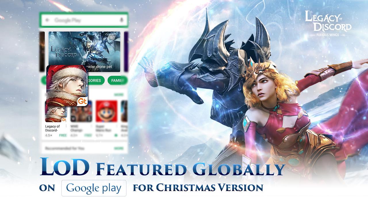 LoD é Apresentado pelo Google Play para o Natal que Está Vindo