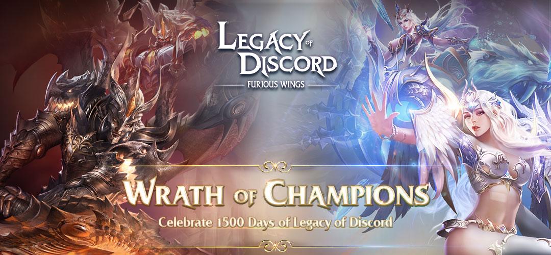 Legacy of Discord: Asas Furiosas comemora 1500 dias em grande estilo