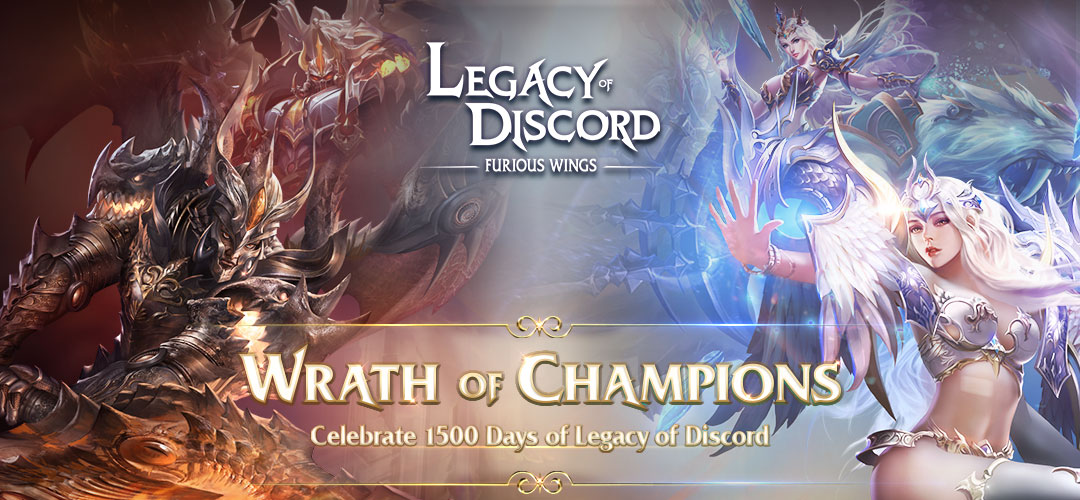 Legacy of Discord: Furious Wings hucznie świętuje 1500 dni na rynku