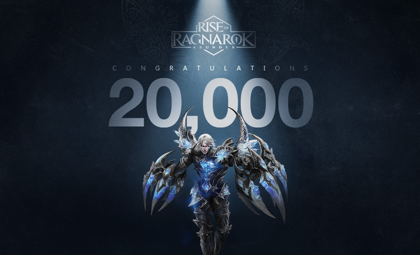 20,000 Pre-registrations Reached!